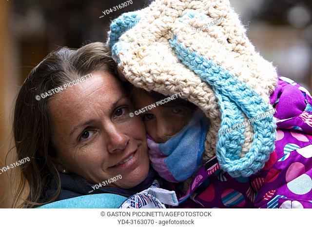 Mother and daughter, Villa Langostura, Neuquén, Patagonia Argentina