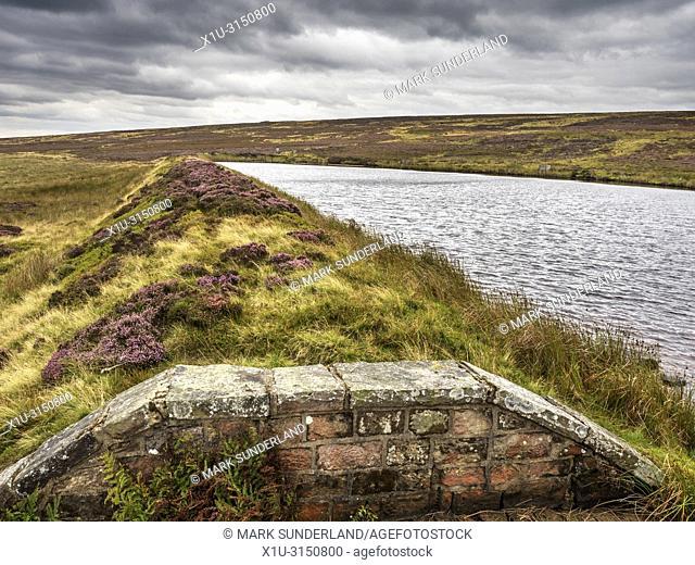 Lower Lanshaw Dam on Burley Moor West Yorkshire England