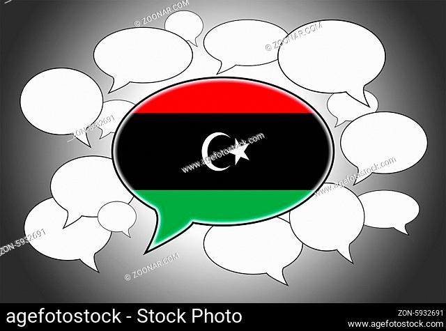Communication concept - Speech cloud, the voice of Libya