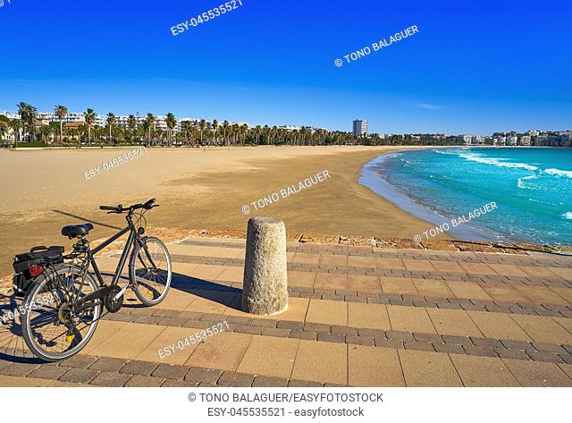 Salou beach Llevant Levante platja in Tarragona of Catalonia