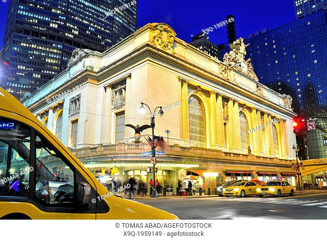 42 nd Street, Grand Central Terminal, Madison Avenue, Park Avenue, Vanderbilt Avenue, Midtown Manhattan, New York City, USA