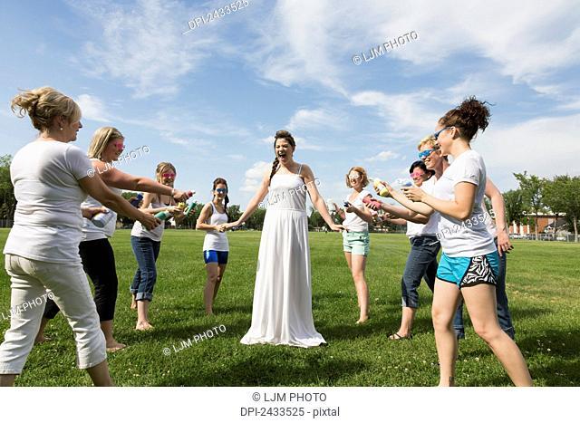 Paint the Bride stagette party; Edmonton, Alberta, Canada