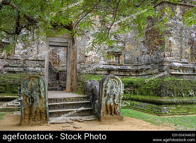 Lankatilaka Buddhist temple in Polonnaruwa, Sri Lanka