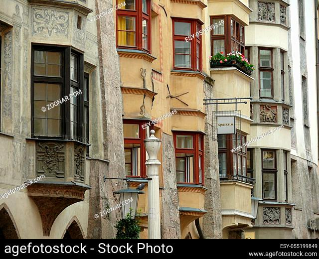 Innsbruck, inntal, tirol, österreich, austria, stadt, innenstadt, haus, fassade, hausfassade, fenster