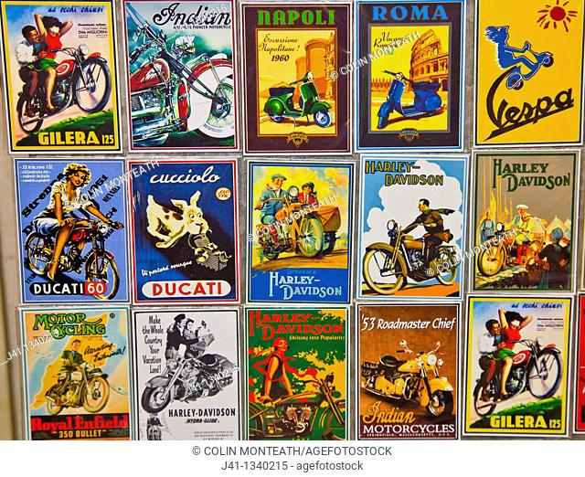 Famous motor bike signs, Buenos Aires, Argentina