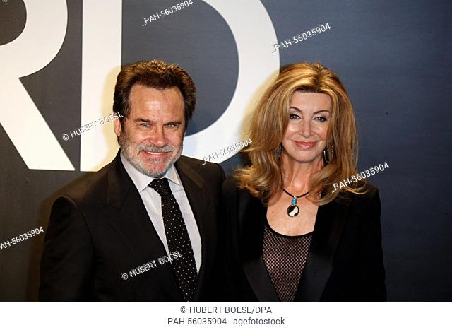 Actor Dennis Miller and designer Carolyn Espley-Miller arrive at the Tom Ford Autumn/Winter 2015 Womenswear Collection Presentation at Milk Studios in Los...