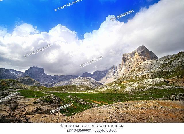 Fuente De mountains pena Vieja in Camaleno Cantabria of Spain