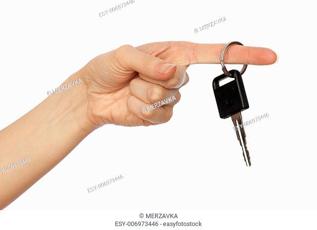 Key for the new modern black car