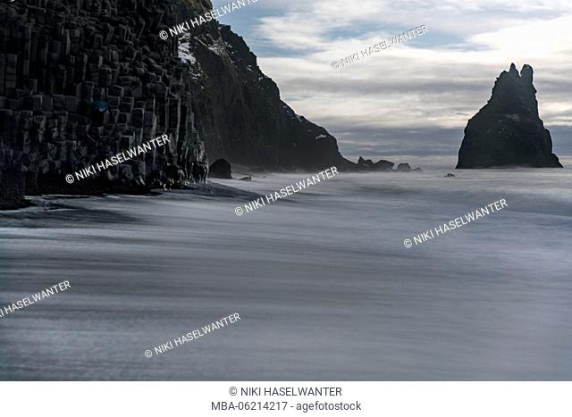 Long exposure at the beach of Reynisfjara, Iceland