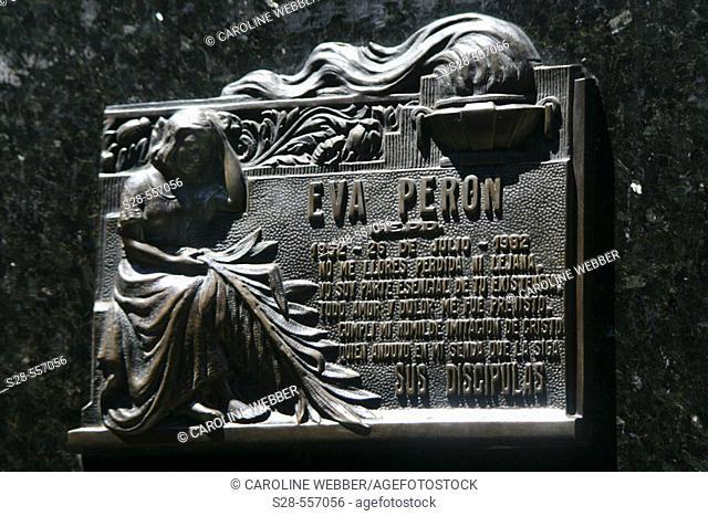 Eva Peron's gravesite memorial