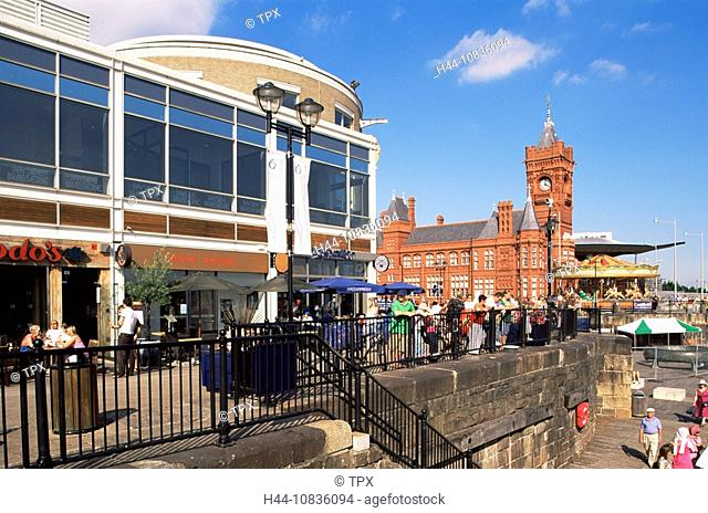 UK, Wales, Monmouthshire, Cardiff, Cardiff Bay, Waterfront, United Kingdom, Great Britain, Europe, Mermaid Quay, Build