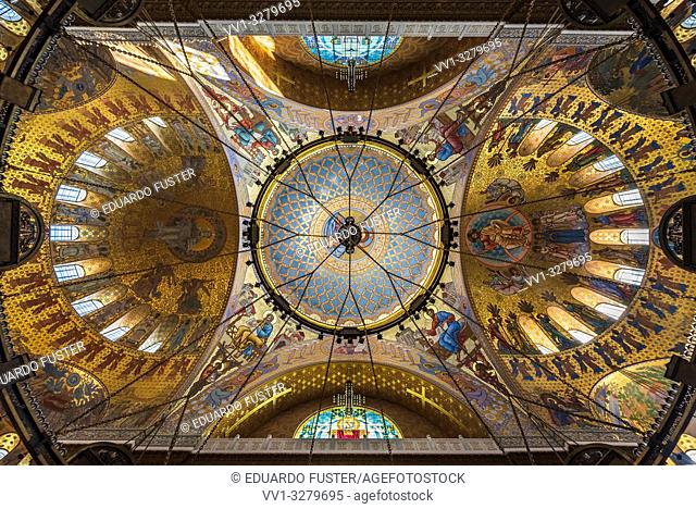 Dome interior of the Naval Cathedral in Kronstadt Saint-petersburg