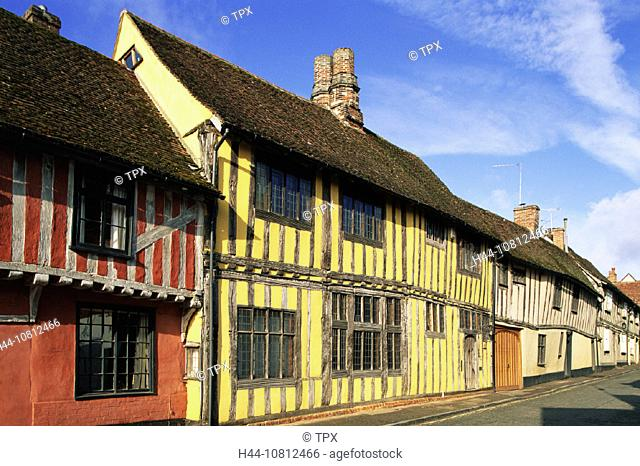 Architecture, Britain, British Isles, England, Europe, Gabled, Great Britain, Europe, Historical, Lavenham, Medieval