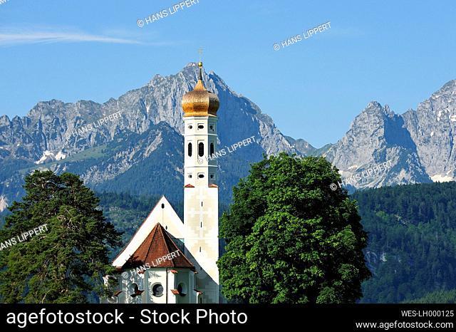 Germany, Bavaria, View of St Koloman Church
