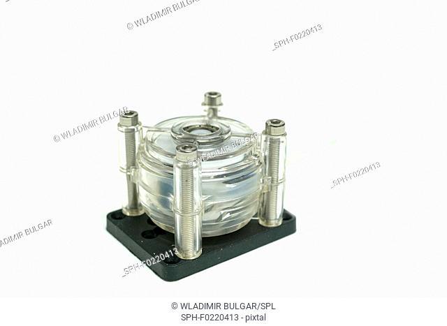 Microfluidic peristaltic water pump