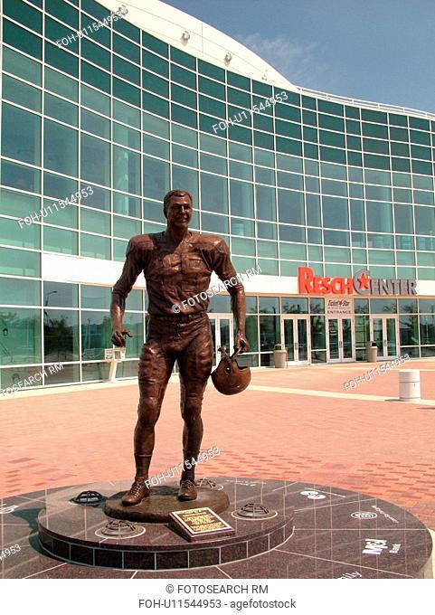 Green Bay, WI, Wisconsin, The Resch Center, Bryan Bartlett Starr Statue