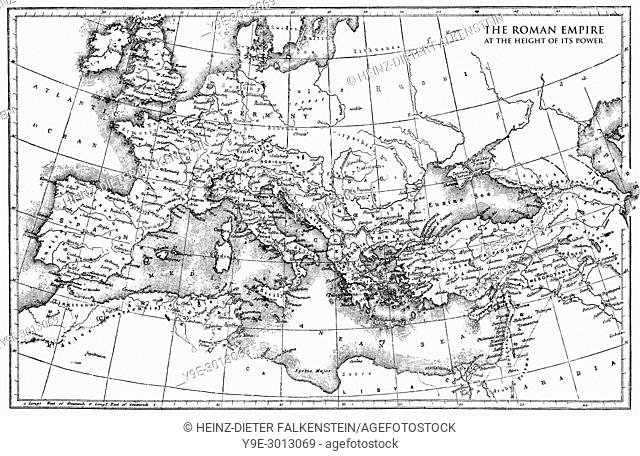 Historical map of the Roman Empire,