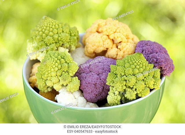 Broccoli and cauliflowers
