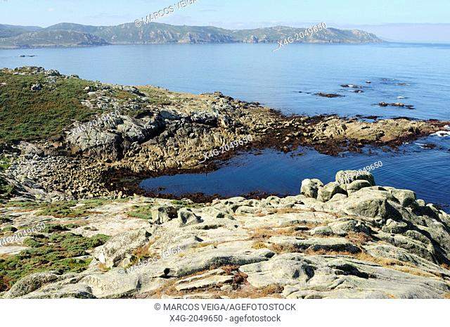 Coastal landscape from Punta Nariga lighthouse. Galicia, Spain