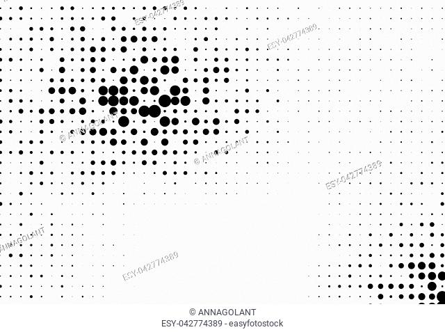 Abstract futuristic halftone pattern. Comic background. Dotted backdrop with circles, dots, point different scale Design element for web banners, posters, cards