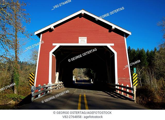 Shimanek Covered Bridge, Covered Bridge Tour, Linn County, Oregon