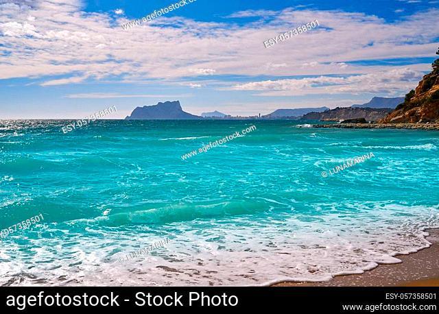 El Portet beach in Moraira of Teulada at Alicante Spain Costa blanca