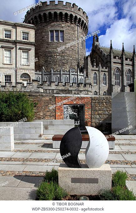 Ireland, Dublin, Castle, Garda Memorial Garden