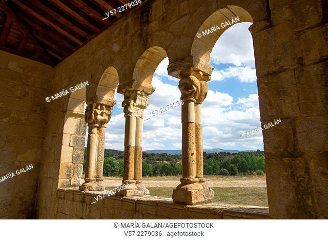 Landscape viewed from the interior of the church of Virgen de las Vegas. Requijada, Segovia province, Castilla Leon, Spain