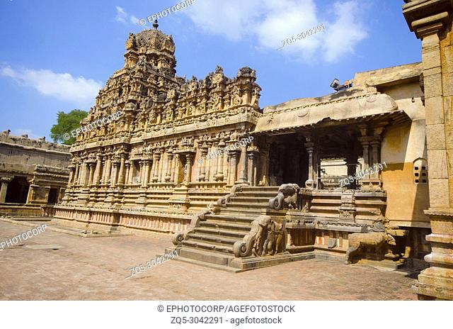 Outer view of Brihadisvara Temple, a Hindu temple dedicated to Shiva. Gangaikonda Cholapuram, Ariyalur district, Tamil Nadu, India