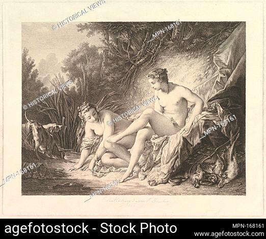 Diana Sourtant du Bain (Diana Leaving the Bath). Artist: Pierre-Edmund-Alexandre Hedouin (French, Boulogne-sur-Mer 1820-1889); Artist: After François Boucher...