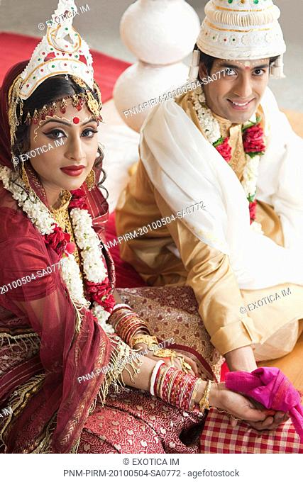 Portrait Bride Traditional Bengali Dress Stock Photos And Images