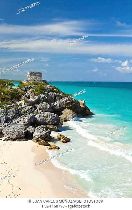 Mayan ruins of Tulum, Quintana Roo, Yucatan Peninsula, Mexico