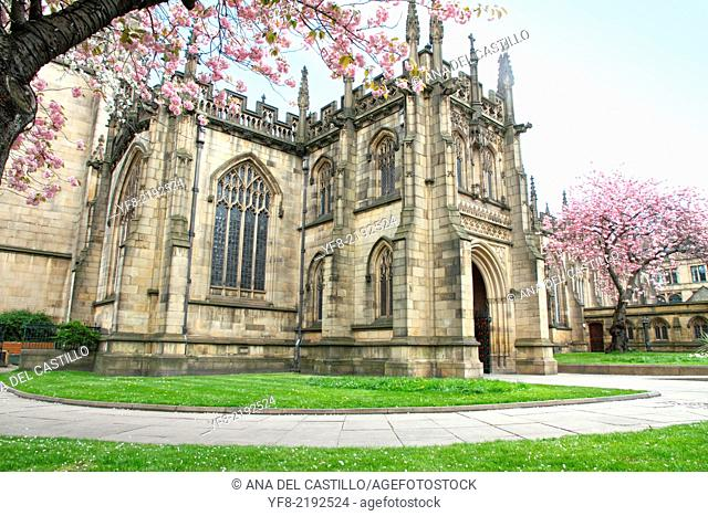 Manchester cathedral England UK