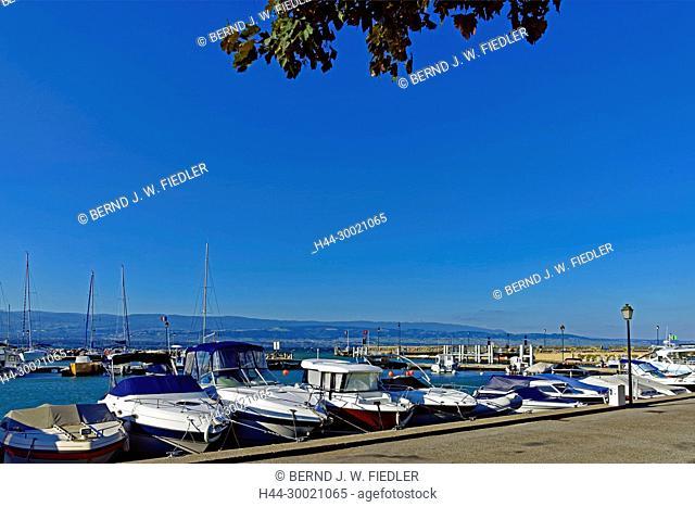 Sportboothafen, Port de Plaisance, Genfer See