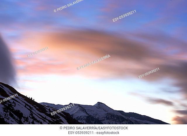 Clouds in Astun, Pyrenees, Huesca, Aragon, Spain