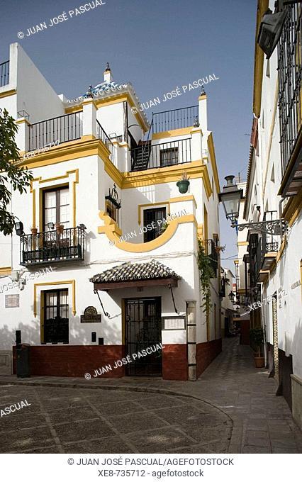 Square of Doña Elvira in Santa Cruz district, Sevilla. Andalucia, Spain