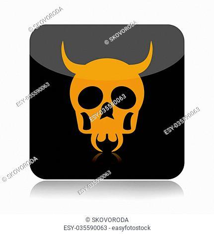 Skull icon isolated on white background