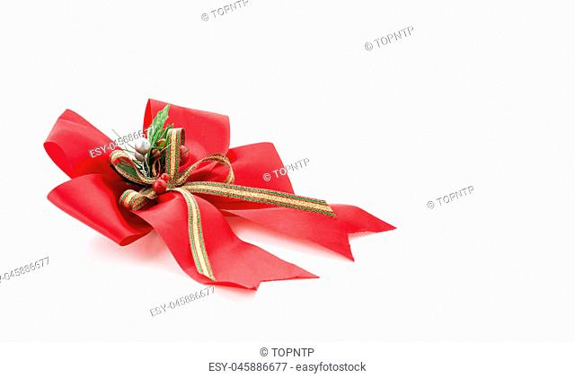 christmas bow on white background