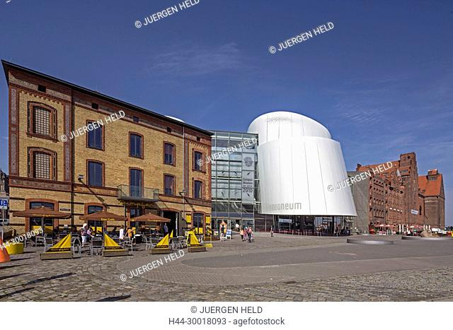Germany, Mecklenburg West Pomerania, Stralsund, East Sea, Exterieur View of Oezeaneum Stralsund, Museum of the year 2010