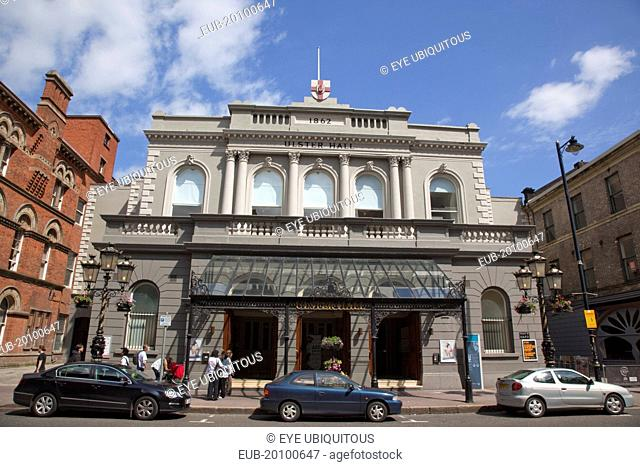 Bedford Street Exterior of the Ulster Hall concert venue