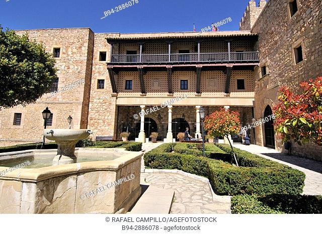 Castle, Parador de Turism, (13th century), now Parador Nacional. Siguenza. Sierra de Ayllon. Guadalajara province. Castilla La Mancha. Spain