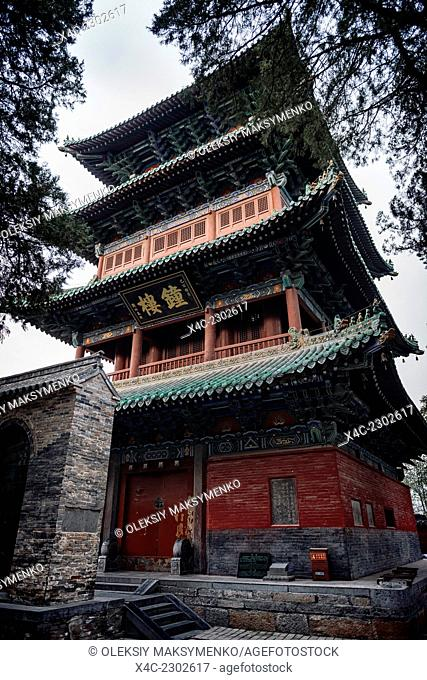 Bell tower of the Shaolin Temple in DengFeng, Zhengzhou, Henan Province, China 2014