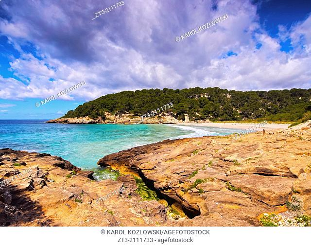 Cala Trebaluger on Menorca, Balearic Islands, Spain