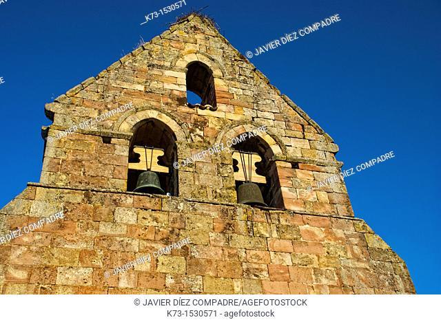 Romanesque Church of Santa Maria Magdalena. Porquera de Santullan. Palencia Province. Castilla y Leon. Spain