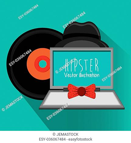 Hipster concept with style icons design, vector illustration 10 eps graphic