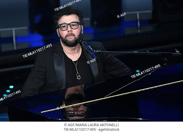 Paolo Vallesi on stage during 67th Sanremo Music Festival 2017, Italy - 11 Feb 2017