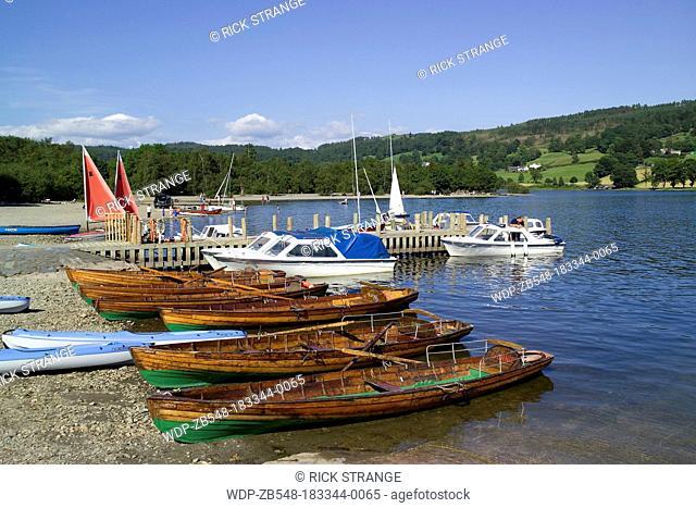 Coniston Jetty, Coniston Water, Lake District, Cumbria, UK