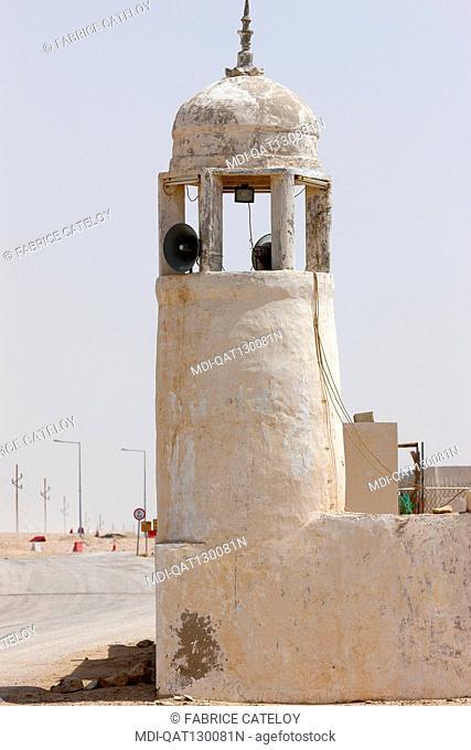 Qatar - Around Zekreet - Mosque in a village
