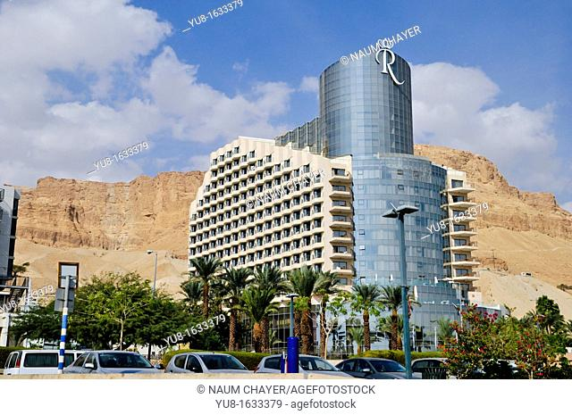Luxury Royal hotel with high tower, Dead Sea, Israel, Asia