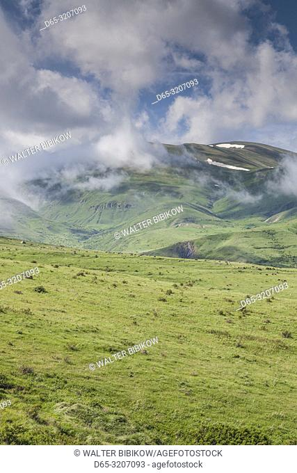 Armenia, Saralan, Zangezur Mountains, mountain fog, summer